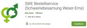 SWE Bestellservice im Play Store